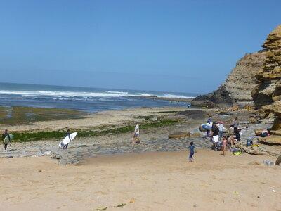 Surf Spot Ribeira d'Ilhas | flache Riffplatte mit einzelnen Seeigeln