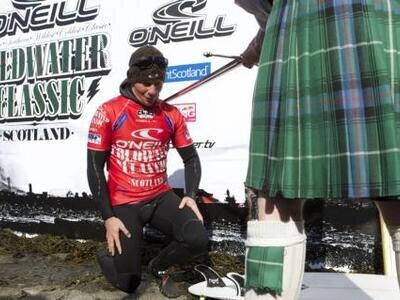 Royden Bryson wins the O'Neill Cold Water Classic Scotland 2010