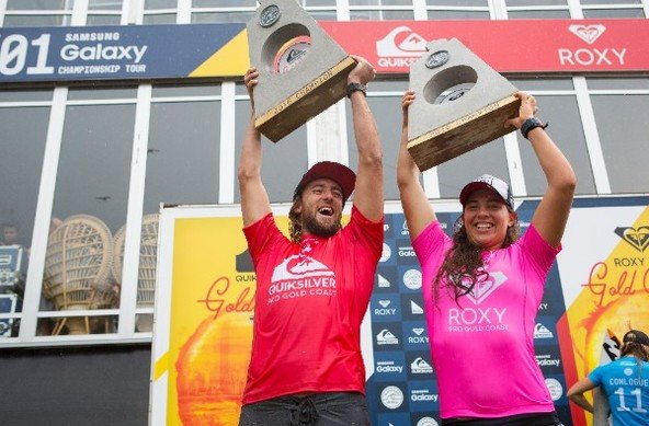 Image: WSL / Kirstin | Matt Wilkinson (AUS) and Tyler Wright (AUS) reign supreme at the Quiksilver and Roxy Pro Gold Coast