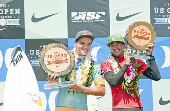 Julian Wilson (AUS), 23, topped Brazilian Miguel Pupo (BRA), 20, to win the 2012 Nike US Open of Surfing.