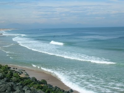 Cean glassy waves in Capbreton
