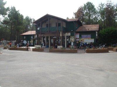 Rezeption Campingplatz Les Tourterelles in St.Girons Plage