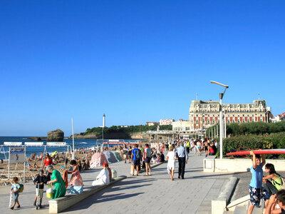 Strandpromenade in Biarritz