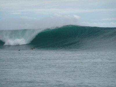 Surfing Panama at P-Land