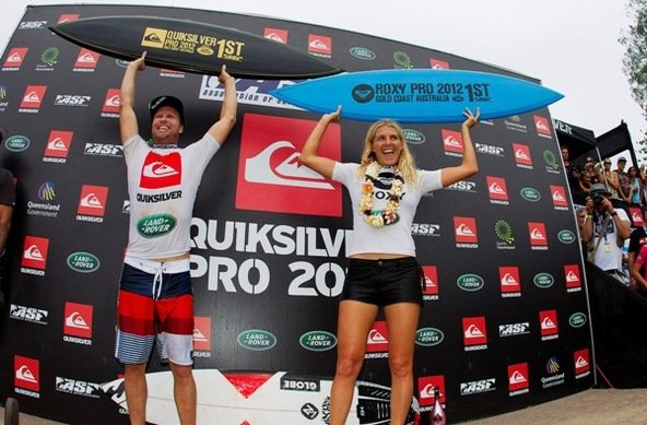 PIC: ASP/Robertson.| Burrow and Gilmore Claim Quiksilver and Roxy Pro Gold