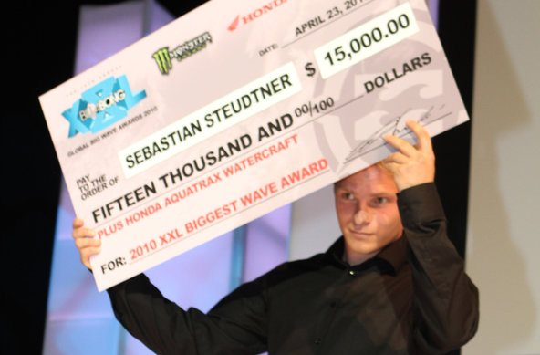 German Surfer Sebastian Steudtner Wins Biggest Wave Award