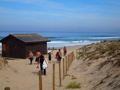 St.Girons Plage | Nur 300m vom Campingplatz zum Surfspot
