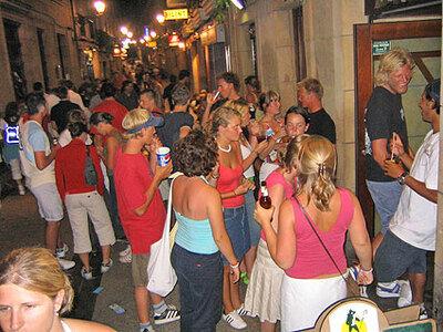 Party und Nightlive in der Altstadt von San Sebastian