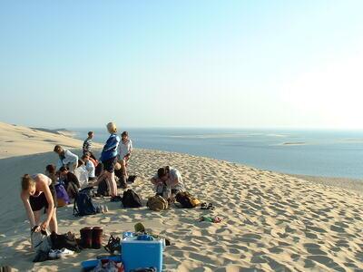 Düne von Pilat | Picknick und Sonnenuntergang auf der Düne in Frankreich