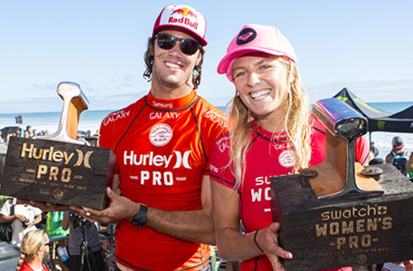 Image: ASP / Kirstin Scholtz | Jordy Smith (ZAF) and Stephanie Gilmore (AUS) reign supreme at Lower Trestles