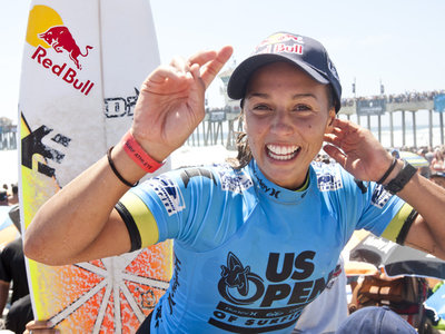 Kelly Slater and Sally Fitzgibbons Win Nike US Open of Surfing