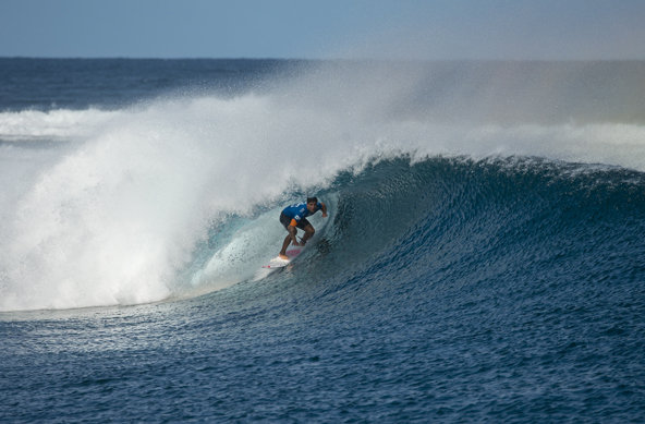 Image: ASP / Robertson | Caption: Gabriel Medina wins the Fiji Pro after defeating Nat Young in the Final.