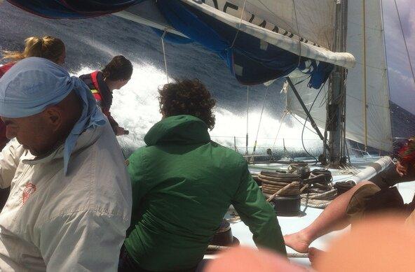 Racing Segelyacht Abenteuer für jedermann in Morro Jable auf Fuerteventura