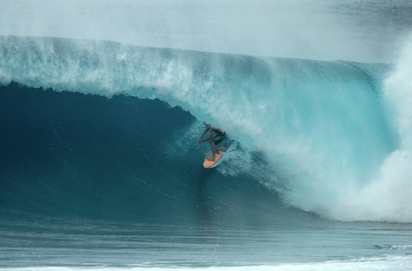 Photo: Ben Reed/Volcom Image: BRUCE IRONS (HAW); when he's on, he's ON, and today was one of those days.