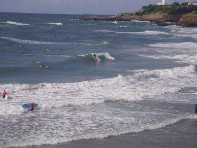 Surfspot Grande Plage - direkt vorm Casino