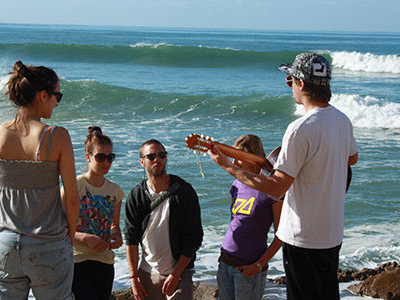 Surf'n'Roll Musik und Sport Workshop in Galicien