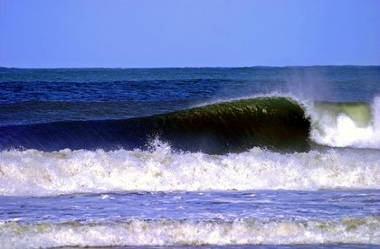 epic right at the oyambre beach in north spain