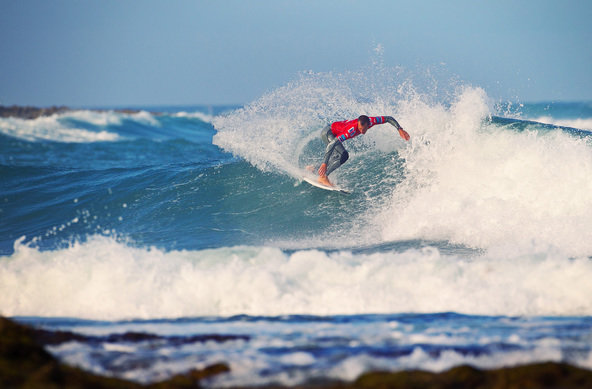 Credit:© Bravo | Nat Young Takes Honours on Day One of  Quiksilver Pro Portugal