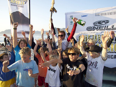 Local Greg Emslie wins the O'Neill Cold Water Classic South Africa 2010