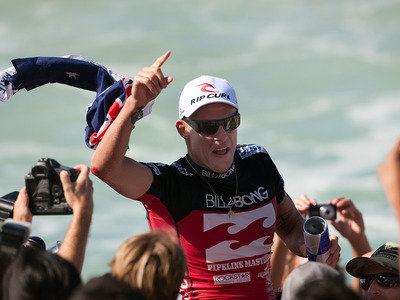 ASP/CI via Getty Images | Mick Fanning second time World Champion 2007|2009