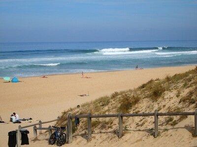 Strandaufgang Promenade St.Girons Plage | Schöne rechte Welle