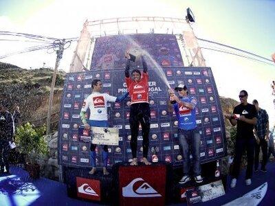 (c) affif | Quiksilver Pro Portugal | hodel collazo podium