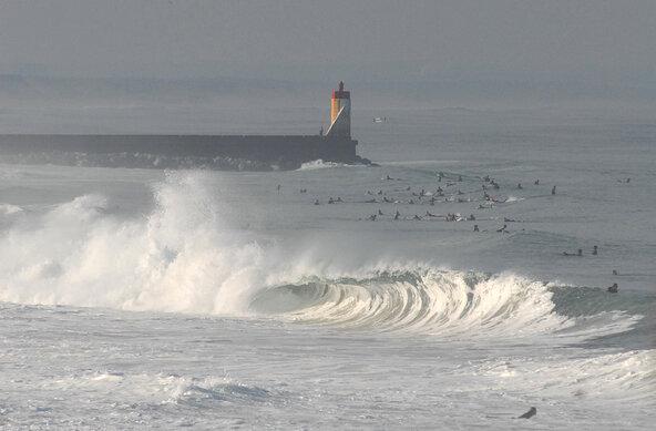 Wellenreiten in Frankreich