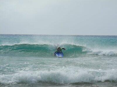 Erste Surflektion im Surfcamp in Fuerteventura by Watersports Fuerteventura