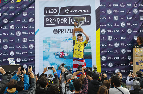 © WSL /  Poullenot | John John Florence (HAW) claims his maiden World Surf League Title