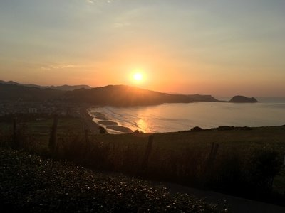 Traumhafter Sonnenuntergang in Zarautz