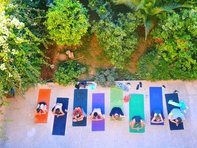 Yoga and surf lessons