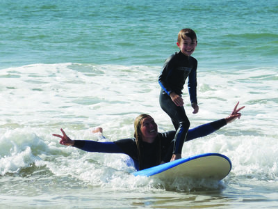 Childrens surf course