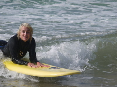 Love learning to surf