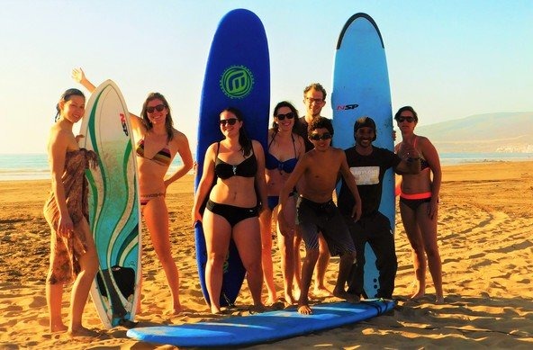 Surf and yoga camp in Tamraght, Morocco