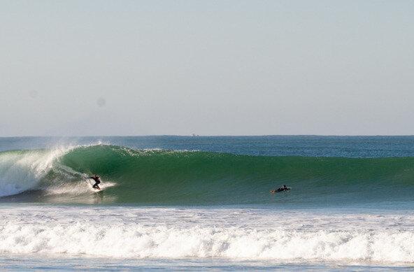 Gran swell en la playa de El Palmar